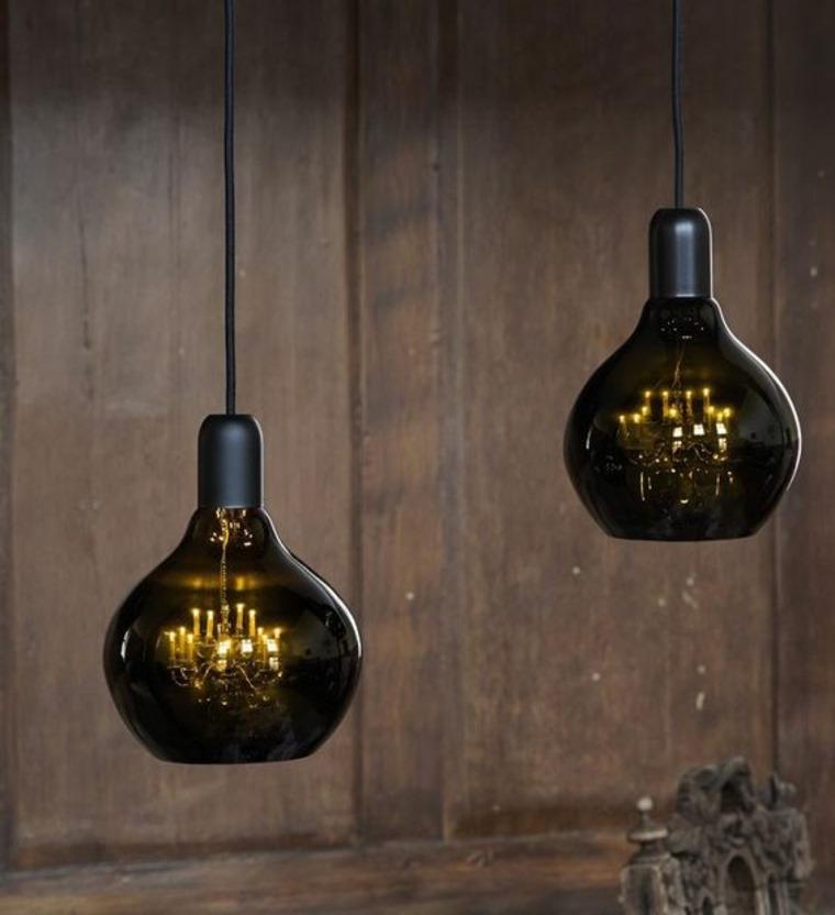 lámparas-de cristal ahumado