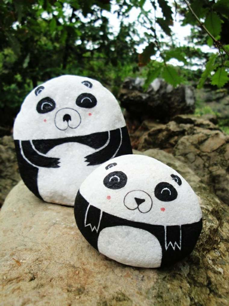 piedras osos panda