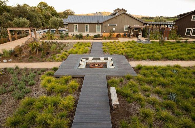 jardin unico y moderno