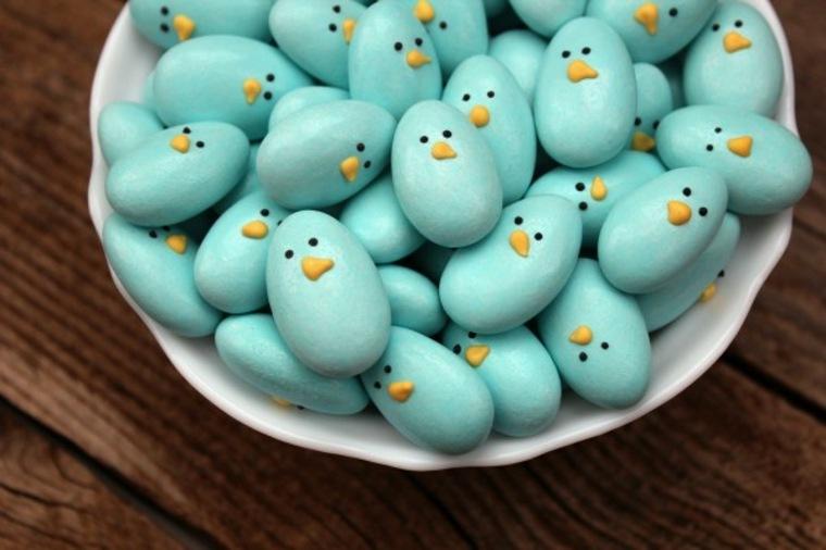 pollos azules