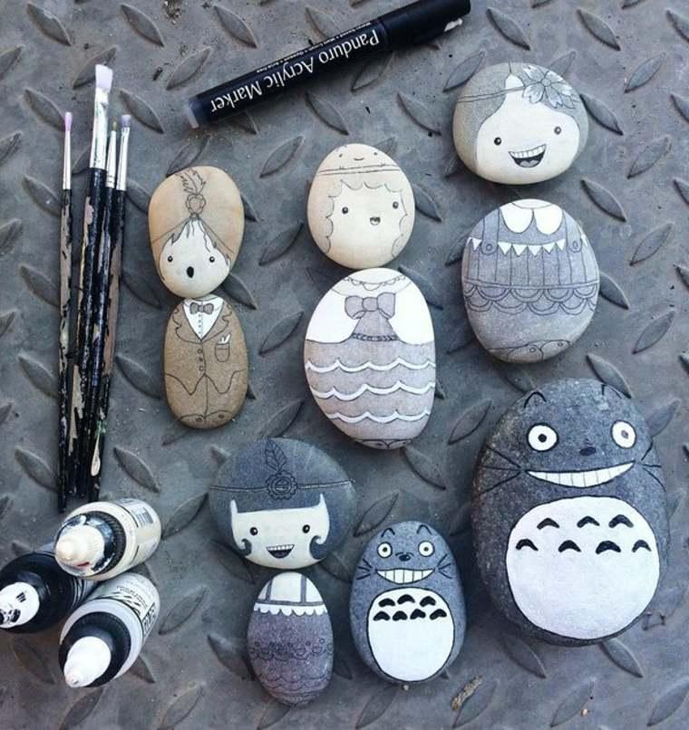 como pintar rocas