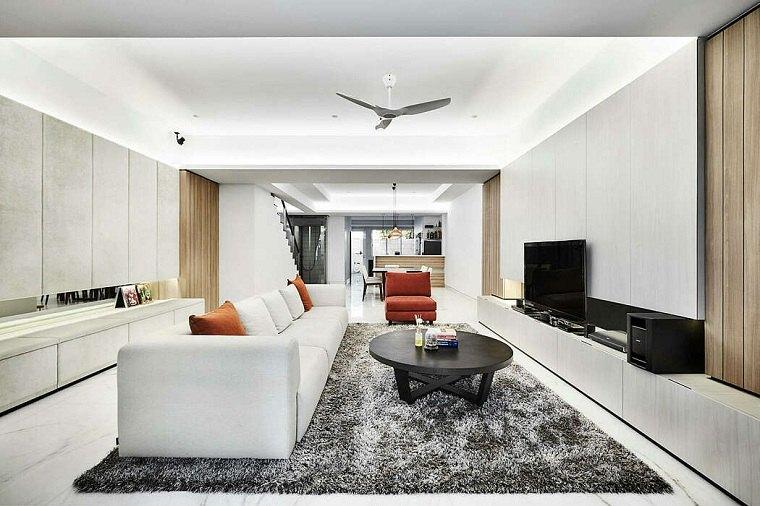 salón diseñado por akihaus design studio