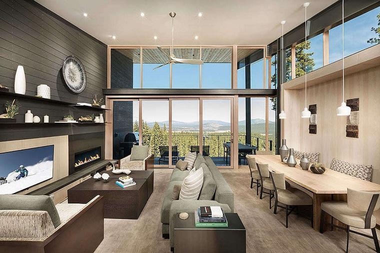 salón moderno aspen leaf interiors