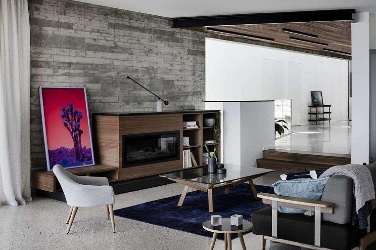 salón moderno de megowan architectural