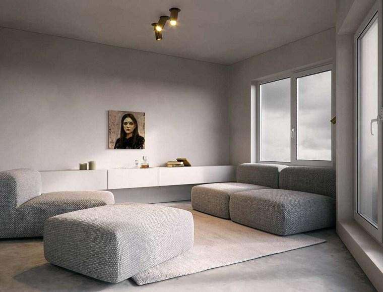 salón moderno con diseño minimalista