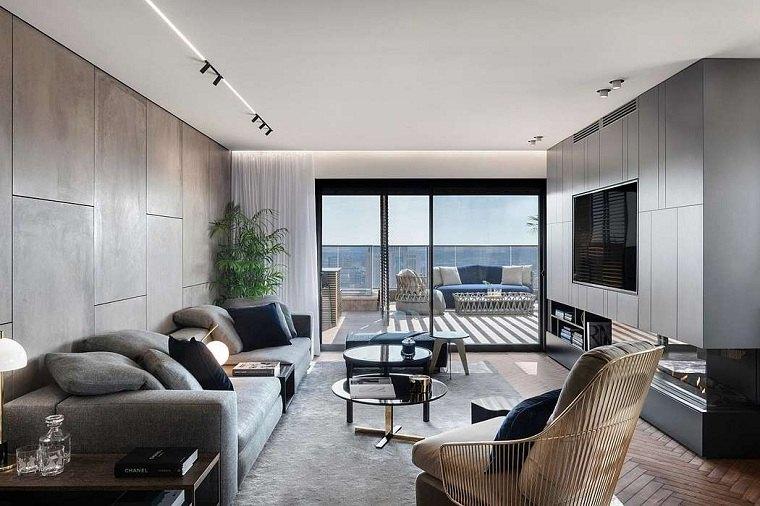 sala de estar con diseño moran gozali