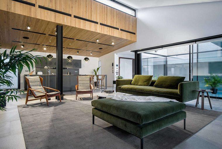 salón moderno diseñado por tendenza interiors architecture-studio