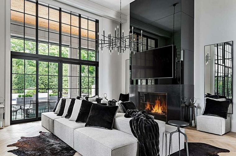 salón diseñado por timberworx custom homes