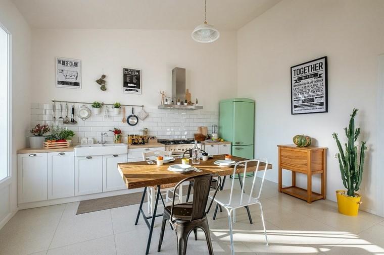 salpicadero vintage en la cocina