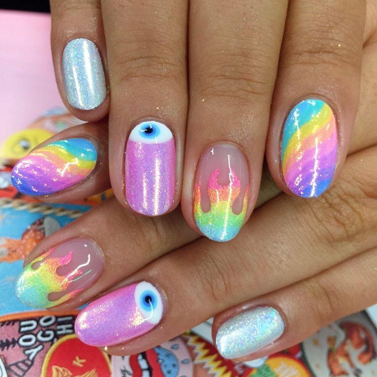 unas-tendencias-2019-combinar-colores-arcoiris