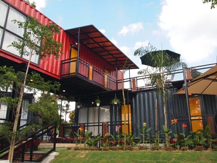 viviendas hechas de contenedores