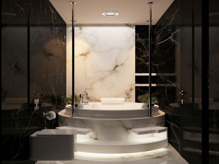 bano-blanco-negro-marmol-ideas