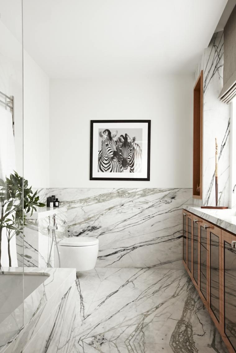 baños de lujo-marmol-ideas-epsacio-estrecho
