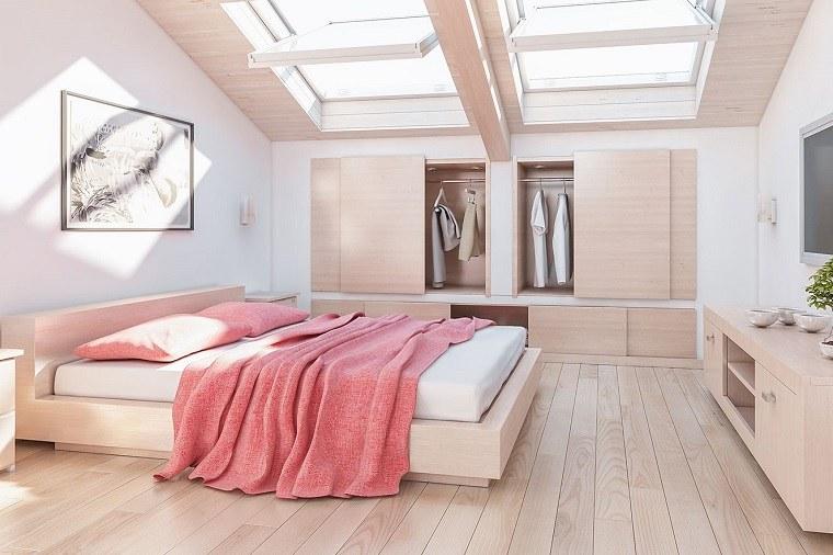 casa con dormitorio en el átcio