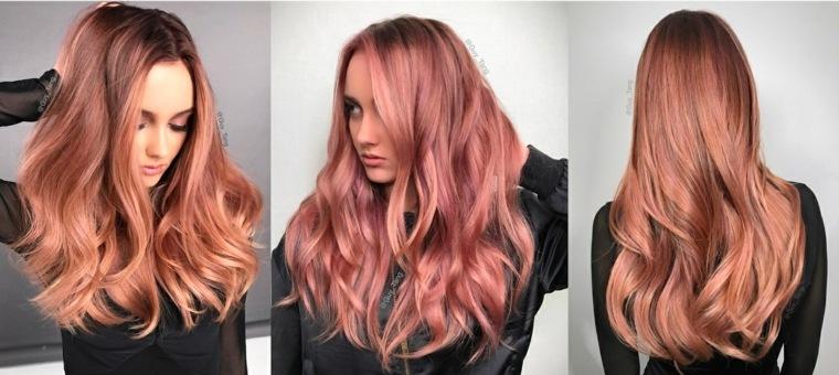 colores-de-cabello-rosa-dorado-ideas