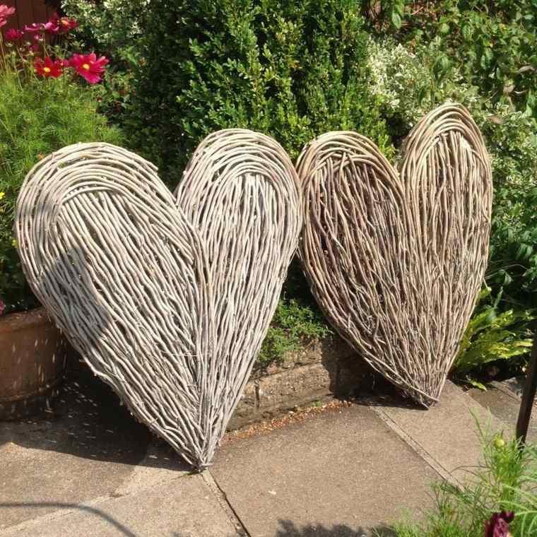 corazones textura-natural