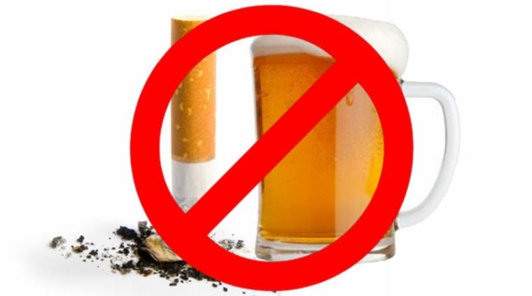 dejar de fumar y de beber