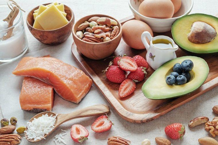 dieta cetogénica lista de alimentos