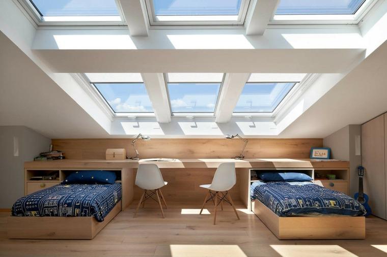 dormitorio en el ático de biondi architetti