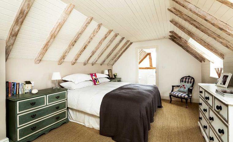 dormitorio con diseño vintage
