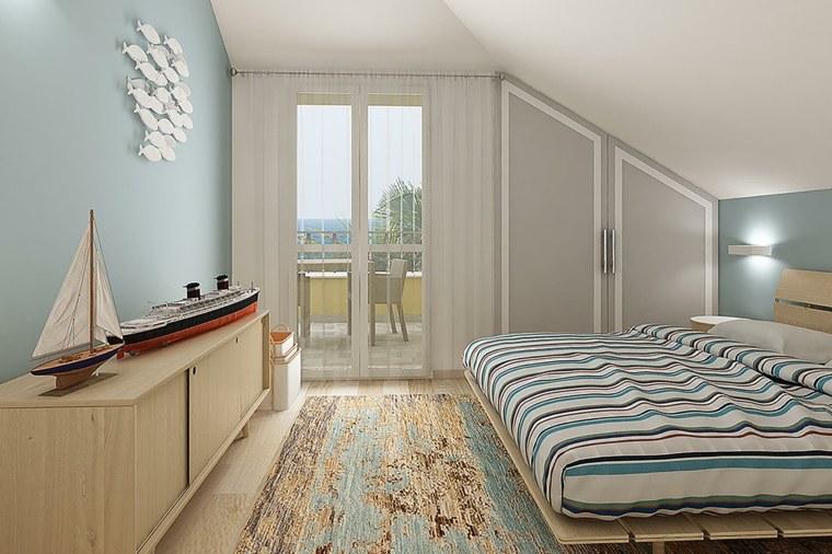 dormitorio al estilo marino