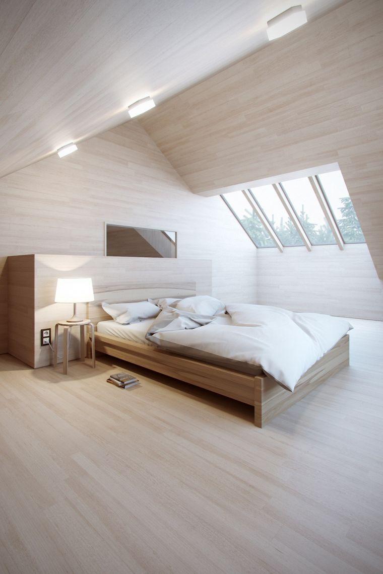 dormitorio con muebles paredes de madera