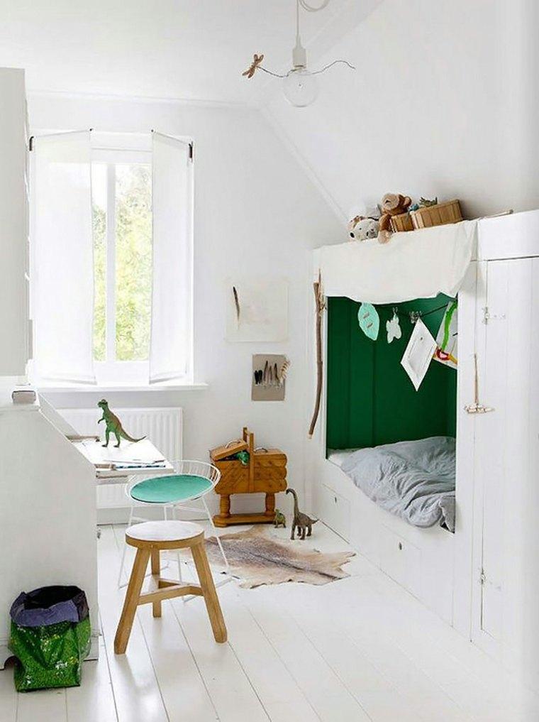 dormitorios infantiles en blanco