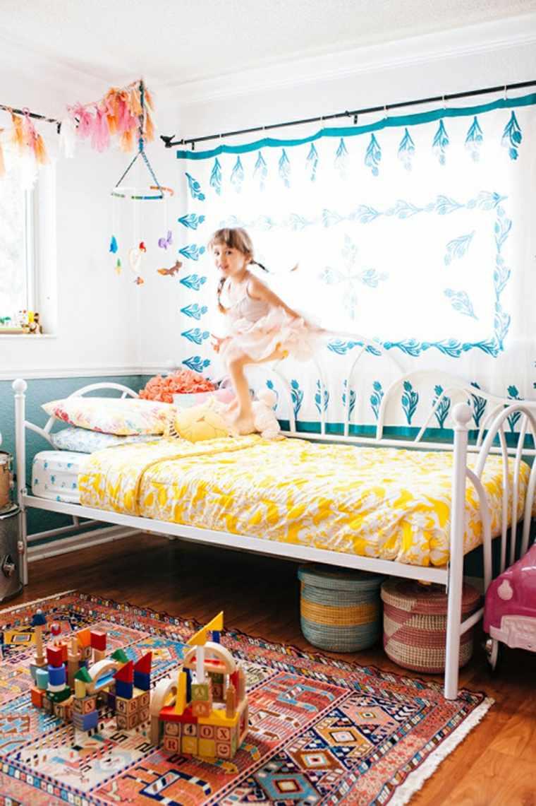 dormitorios infantiles estilo bohemio