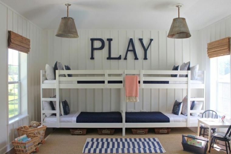dormitorios infantiles para cuatro niños