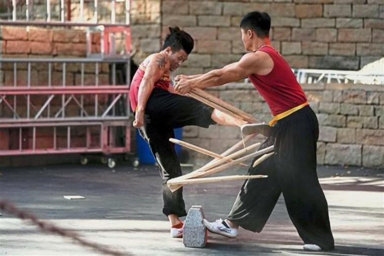 entrnamiento de artes marciales