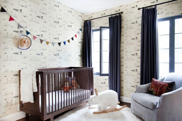 habitación infantil colores naturales