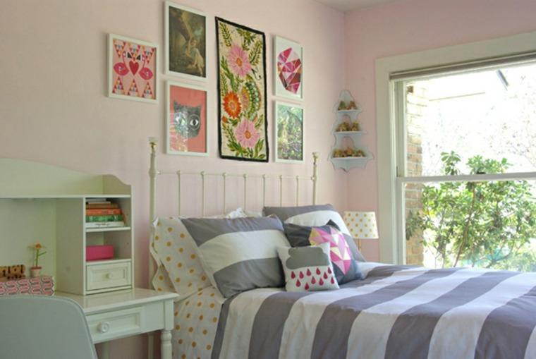 habitación infantil colores  pastel