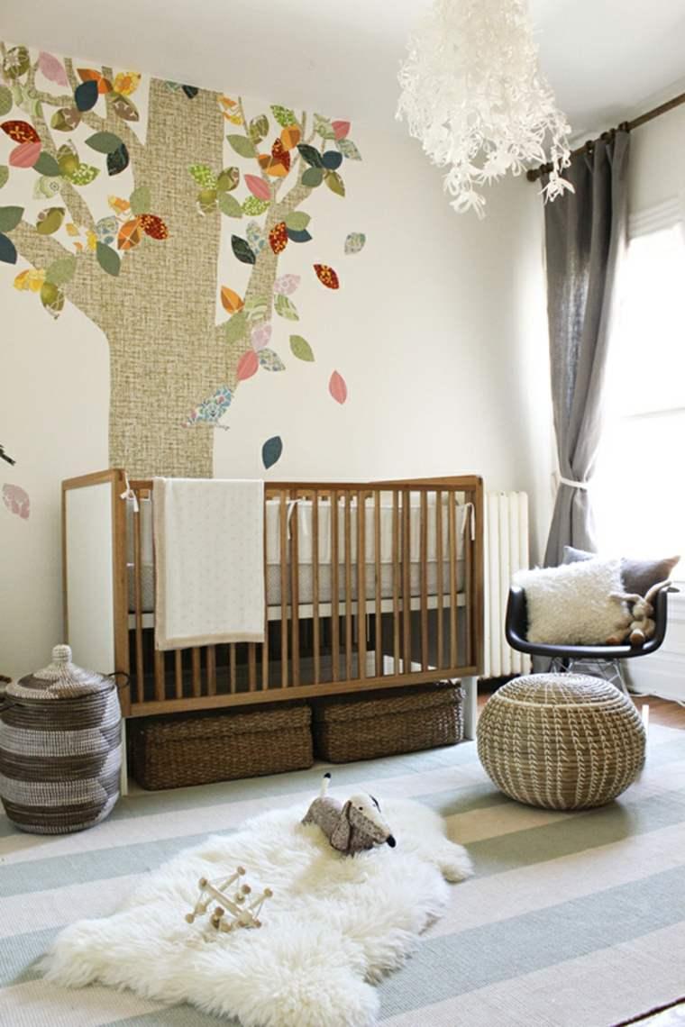 habitación infantil decoración árbol