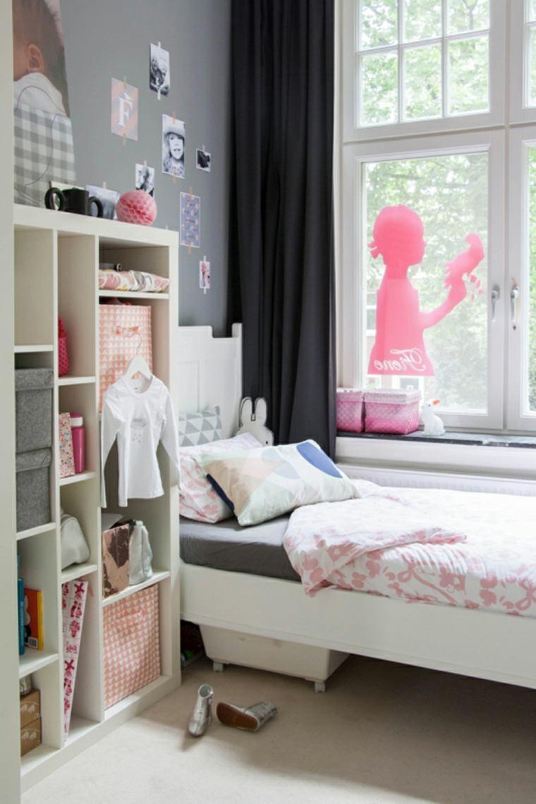habitación infantil decoración rosada