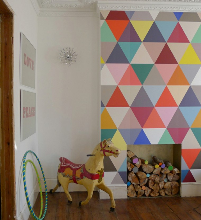 habitación infantil diseño de pared