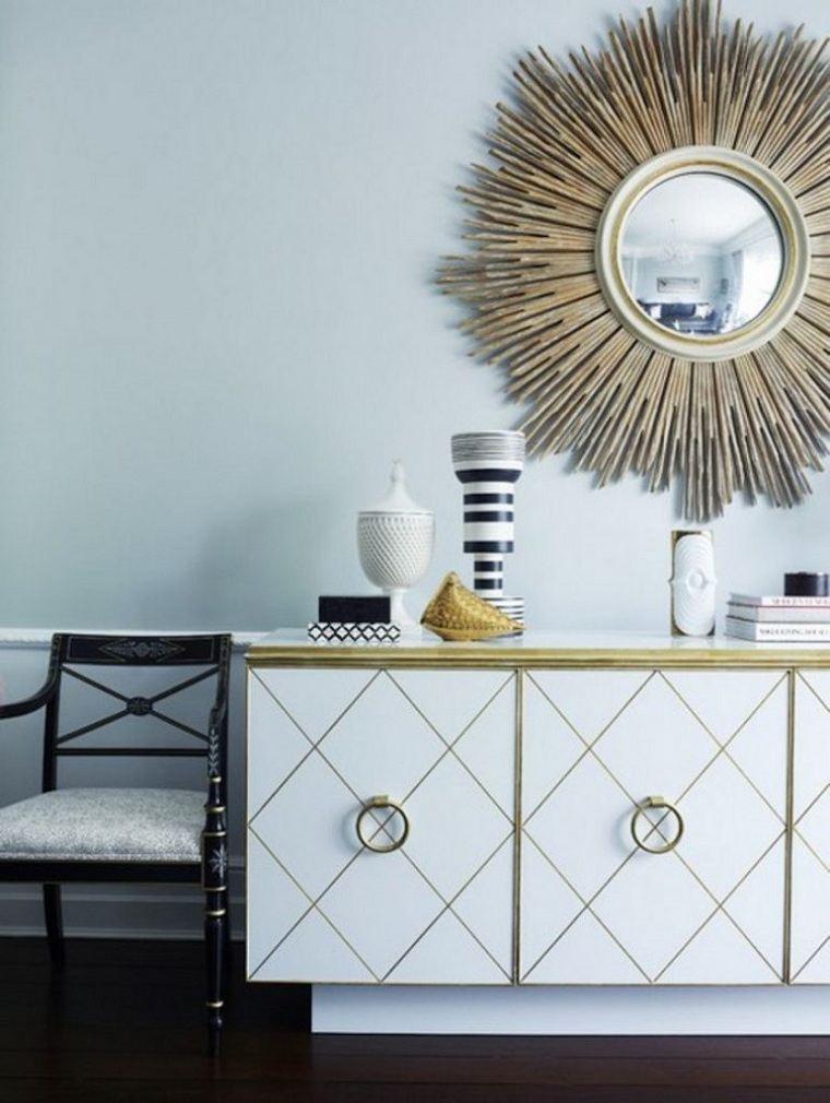ideas para decora habitaciones-espejo-redondo