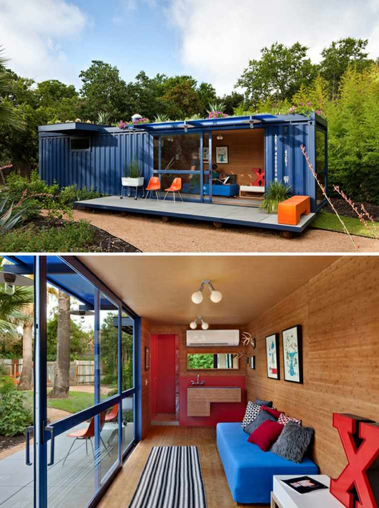 arquitectura con contenedores reciclados