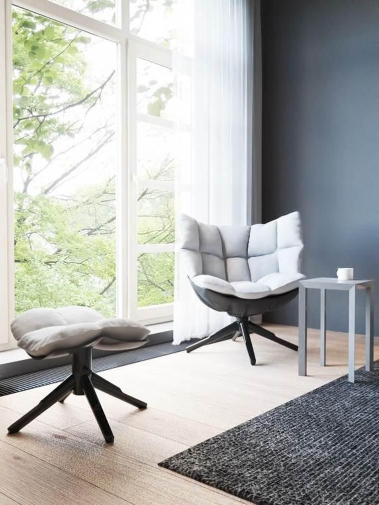 muebles auxiliares sillón-y-taburete