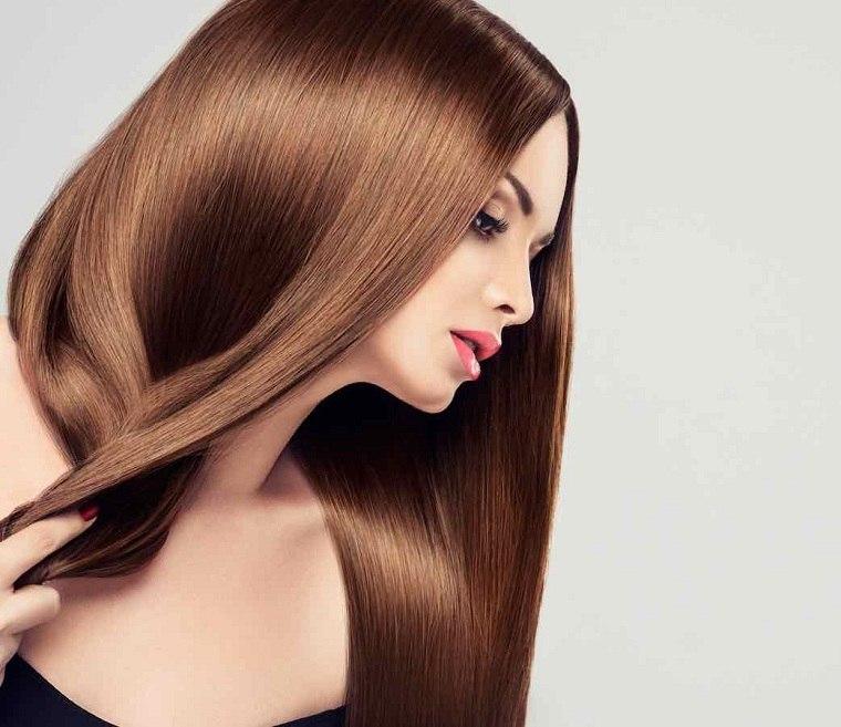 tipos de cabello-brillante-liso-largo