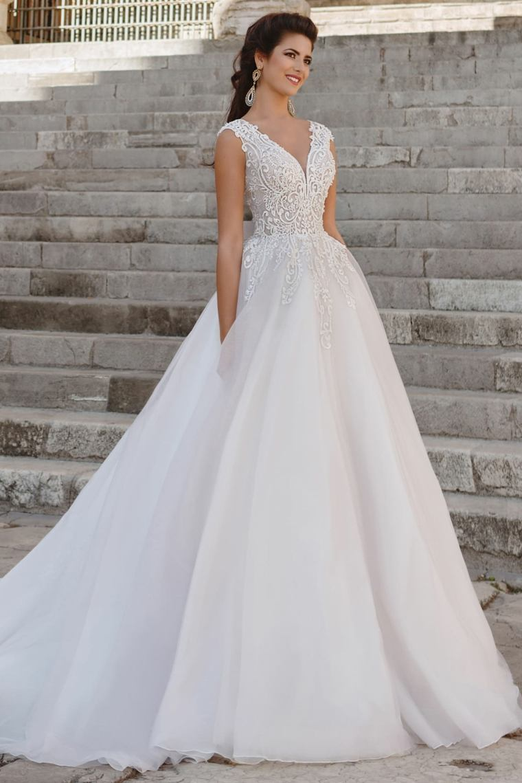 vestidos de novia 2019-largo-princesa-estilo