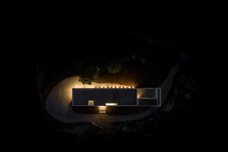 Casa de Messines de noche