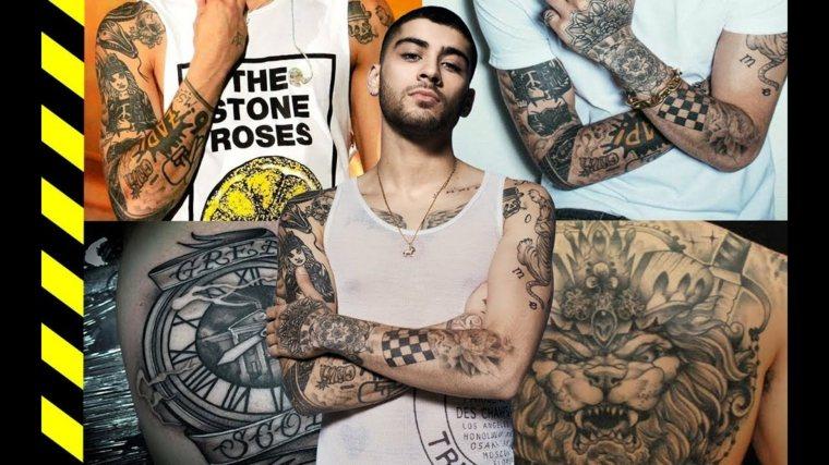 18 famosos y la historia de sus tatuajes.  Fotos antes y después