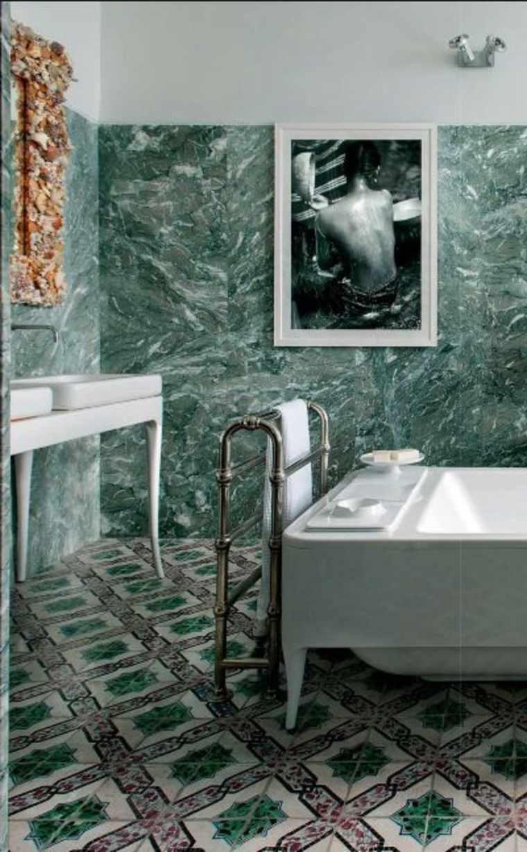 azulejos de mármol verde