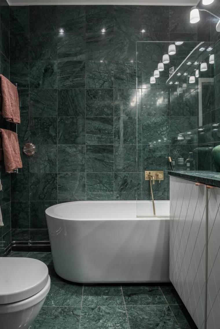 azulejos efecto mármol verde