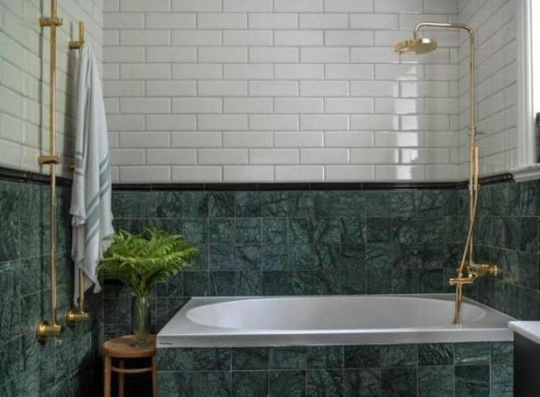 azulejos mármol verde