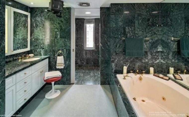 baño de lujo mármol verde