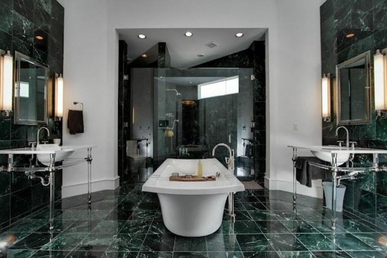baño de mármol verde ideas