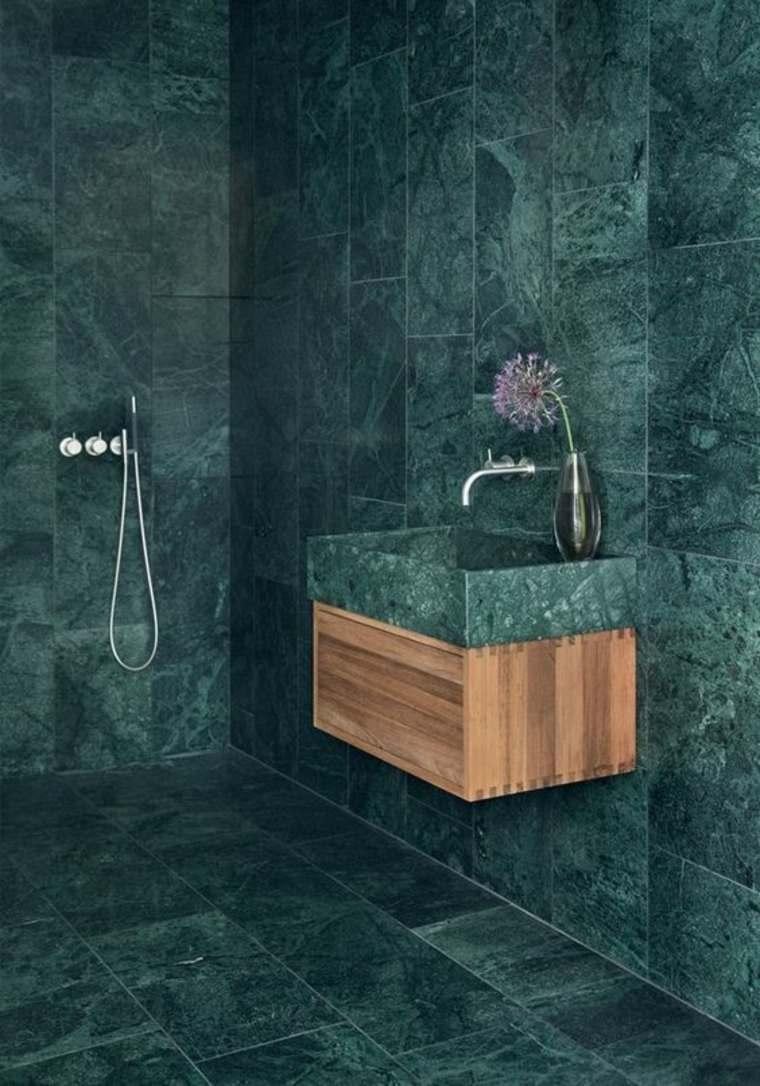 baño de mármol verde
