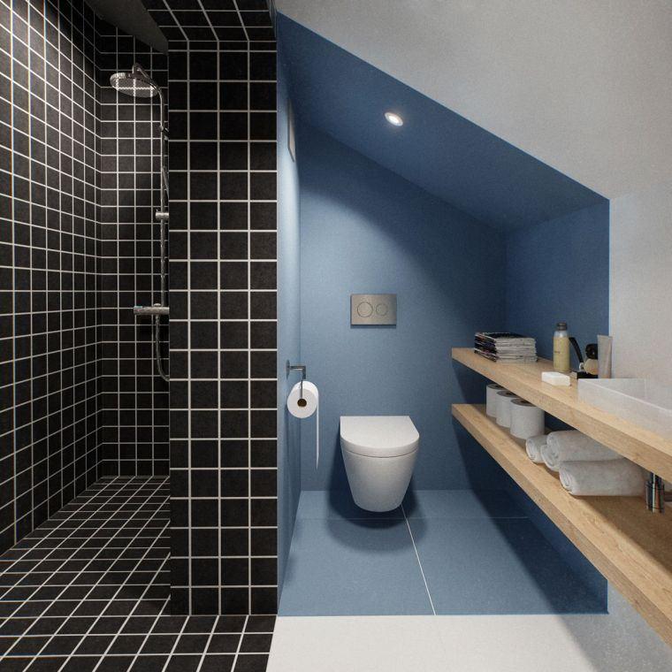 bano-pequeno-azul-negro-ideas-originales