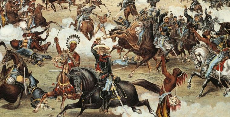 batalla entre indígenas y europeos